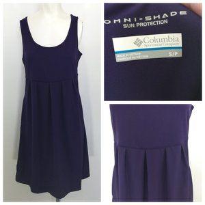 Columbia Omni Shade Tank Dress Size S Blue